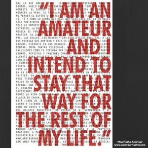 Manifiesto Amateur www.amateurhostel.com